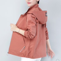 Middle aged and old women's wear Autumn of 2019 Blue purple brick red Khaki M [recommended 85-110kg] l [recommended 110-120kg] XL [recommended 120-130kg] 2XL [recommended 130-140kg] 3XL [recommended 140-150kg] 4XL [recommended 150-160kg] commute Jacket / jacket easy singleton  other 40-49 years old