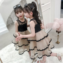 Dress Apricot female Zanzan bear Other 100% summer Korean version Skirt / vest Solid color other Cake skirt ZZX100008 Summer 2020 3 years old, 4 years old, 5 years old, 6 years old, 7 years old, 8 years old, 9 years old, 10 years old, 11 years old, 12 years old