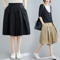 Women's large Summer 2021 L [95-120 kg], XL [120-140 kg], XXL [140-170 kg] trousers singleton  commute easy moderate Solid color Korean version Cotton, hemp Three dimensional cutting Other / other pocket 51% (inclusive) - 70% (inclusive) Pant