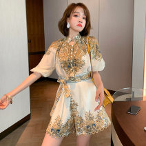 Fashion suit Summer 2020 S,XL,L,M Decor 18-25 years old 71% (inclusive) - 80% (inclusive) polyester fiber