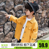 Plain coat Yubao in charge male 110cm 120cm 130cm 140cm 150cm 160cm 170cm Collection add shopping cart priority shipping yellow black spring and autumn leisure time Single breasted There are models in the real shooting routine nothing other cotton other YB638 Cotton 100% Class C Autumn of 2019