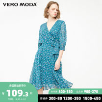 Dress Spring of 2019 E49 Middle East Blue S59 black 155/76A/XS 160/80A/S 165/84A/M 170/88A/L 175/92A/XL 180/96A/XXL Mid length dress Sweet 25-29 years old Vero Moda 31917C548 More than 95% polyester fiber Polyester 100% solar system Same model in shopping mall (sold online and offline)