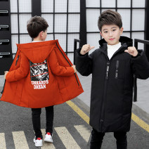 Cotton padded jacket male No detachable cap Cotton 96% and above Good luck Green ribbon orange tsunami black tsunami black ribbon 110cm 120cm 130cm 140cm 150cm 160cm thickening Zipper shirt motion There are models in the real shooting Solid color chemical fiber Class B other Other polyester 95% 5%