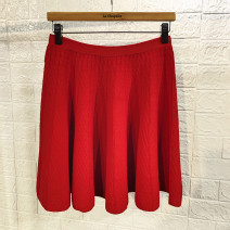 skirt Winter 2020 155 / 64a-s, 160 / 68a-m, 165 / 72a-l, 170 / 76a-xl Knitted waist skirt red 100, knitted waist skirt green 600, knitted waist skirt black 400 Short skirt commute High waist Pleated skirt Solid color Type A 25-29 years old 31% (inclusive) - 50% (inclusive) knitting Rmeo / all over