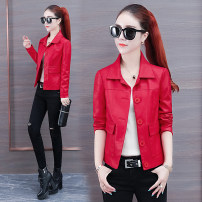 leather clothing GNDH Autumn of 2019 have cash less than that is registered in the accounts Long sleeves easy commute Polo collar routine Sheepskin pocket 25-29 years old Sheepskin Pure e-commerce (online only)