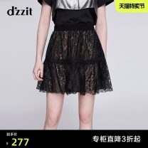 skirt Summer of 2019 XS S M Black, yellowish brown, purple Short skirt commute Natural waist A-line skirt Type A 25-29 years old 3G2S261 More than 95% d'zzit nylon Lace Ol style Polyamide fiber (nylon) 100% Same model in shopping mall (sold online and offline)