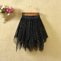 skirt 90cm,100cm,110cm,120cm,130cm,140cm,150cm As shown in the picture, black irregular star skirt, pink irregular star skirt and gray irregular star skirt Other / other female Other 100% summer princess stars Irregular other