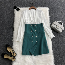 Dress Spring 2020 Green, pink S,M,L,XL T020-8113 31% (inclusive) - 50% (inclusive) other