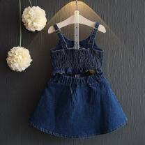 Dress Blue, purple, white, Lori pink, light gray suit, yellow fake two-piece suit, denim skirt, white suit, denim suit, black and white suit, denim blue female Other / other 11, 15, 9, 13, 7 Other 100% summer Korean version Strapless skirt other other Strapless skirt M110 other