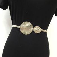 Belt / belt / chain other Gold, silver, gun color, gold (big leaf), silver (big leaf), gold (8-button), silver (8-button) female Versatile Single loop 100cm