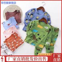 Underwear set 73cm 80cm 90cm 100cm 110cm 120cm 130cm 140cm Cotton 100% Pure cotton (100% cotton content) Simba monkey spring and autumn neutral Class A 12 months, 18 months, 2 years old, 3 years old, 4 years old, 5 years old, 6 years old and 7 years old Antistatic