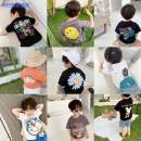 T-shirt Simba monkey 90 height 80-90 100 height 90-100 110 height 100-110 120 height 110-120 130 height 120-130 140 height 130-140 male summer Short sleeve Crew neck leisure time There are models in the real shooting cotton Cartoon animation Cotton 93% polyurethane elastic fiber (spandex) 7% Class A