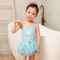 Children's swimsuit / pants Kiniza M (recommended height 80-90cm) l (recommended height 90-100cm, weight 25-35jin) XL (recommended height 100-110cm, weight 30-43jin) 2XL (recommended height 110-1200cm, weight 37-49jin) Sky blue pink Children's one piece swimsuit female nylon pf002 Summer of 2019 no