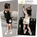 T-shirt Black, white Other / other The recommended height is 70cm for size 80, 80cm for Size 90, 90cm for size 100, 100cm for Size 110 and 110cm for Size 120 female Short sleeve other Cartoon animation E27531 other other