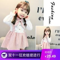 Dress Yellow, pink female Other / other 90cm,110cm,80cm,100cm,70cm Cotton 80% other 20% spring and autumn Europe and America Long sleeves other cotton other other