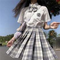 student uniforms Summer 2021 XS S M L XL XXL Short sleeve solar system skirt 18-25 years old KZKT polyester fiber GPNlE 96% and above Polyethylene terephthalate (polyester) 100% Pure e-commerce (online only)