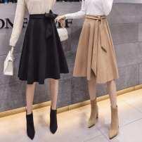 Parent child fashion Black, Khaki Women's dress female Other / other S,M,L,XL,2XL Solid color other GD 12 months