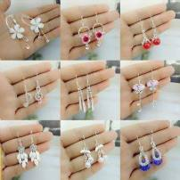 Earrings Alloy / silver / gold 40-49.99 yuan Other / other brand new female Japan and South Korea goods in stock Fresh out of the oven Alloy inlaid artificial gem / semi gem Plants and flowers