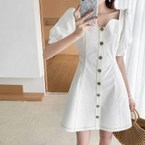 Women's large Summer 2021 white L XL 2XL 3XL 4XL Dress commute Korean version RX19106 Hinaya 18-24 years old Other 100% Pure e-commerce (online only)