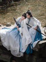 Hanfu 91% (inclusive) - 95% (inclusive) Men's in stock, women's in stock S,M,L,XL polyester fiber