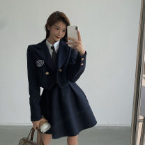 Fashion suit Autumn 2020 S M L Tibetan blue coat + suspender skirt + white shirt black coat + suspender skirt + white shirt 18-25 years old Helena 999M899 51% (inclusive) - 70% (inclusive) polyester fiber Other 100% Pure e-commerce (online only)