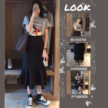 Fashion suit Spring 2021 S M L XL T-shirt + skirt [suit] single T-shirt single skirt Sauvignon M.21 Polyester 95.5% other 4.5% Exclusive payment of tmall