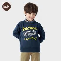 Sweater / sweater Lativ Dark blue female 110cm 120cm 130cm 140cm 150cm winter Cotton 85% polyester 15% Class B