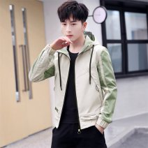 Jacket Wo Street Youth fashion 8305 black 8305 yellow 8305 Khaki 8306 black 8306 yellow 8306 Khaki 4XL M L XL 2XL 3XL routine easy Other leisure autumn LXF-8305 Polyester 100% Long sleeves Wear out Hood tide youth routine Zipper placket No iron treatment Closing sleeve Autumn of 2019 other