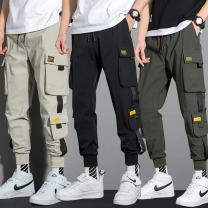 Casual pants Others Youth fashion K15 black, K15 army green, K15 khaki, K13 black, K13 gray, black casual pants S,M,L,XL,2XL,3XL,4XL,5XL thin trousers Other leisure easy Micro bomb summer teenagers tide 2021 middle-waisted Little feet Overalls Pocket decoration No iron treatment Solid color