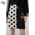 skirt Spring of 2019 XS S M L XL 510 black Short skirt commute High waist skirt Dot Type O 25-29 years old 119110C6247 91% (inclusive) - 95% (inclusive) other Lily / Lily polyester fiber Asymmetric stitching printing Ol style Polyester 92.6% polyurethane elastic fiber (spandex) 7.4%