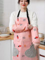 apron Pink apron can be waterproof and oil proof purple apron can be waterproof and oil proof dark blue apron can be waterproof and oil proof pink suit apron + sleeve purple suit apron + sleeve dark blue suit apron + sleeve Sleeveless apron antifouling Japanese  PVC Household cleaning Average size