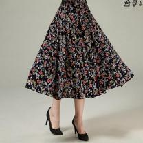 skirt Winter 2016 longuette High waist Pleated skirt Other / other