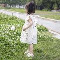 Dress female Other 100% summer princess Short sleeve Dot Chiffon A-line skirt Summer 2020 18 months, 2 years old, 3 years old, 4 years old, 5 years old, 6 years old, 7 years old, 8 years old, 9 years old