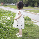 Dress female Other 100% summer princess Short sleeve Dot Chiffon A-line skirt Summer 2020 18 months, 2 years old, 3 years old, 4 years old, 5 years old, 6 years old, 7 years old, 8 years old, 9 years old