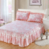 Bedding Set / four piece set / multi piece set cotton Quilting Plants and flowers 128x68 Eni Jiujiu cotton 4 pieces 40 1.8m (6 feet) bed, 1.2m (4 feet) bed, 1.5m (5 feet) bed, 2.0m (6.6 feet) bed Sheet type, fitted sheet type, bed cover type, bed skirt type, bedspread type Superior products 100%