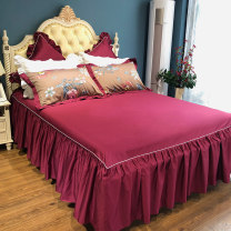 Bedding Set / four piece set / multi piece set cotton other Plants and flowers 200x95 Other / other cotton 4 pieces 60 Long staple cotton four piece set. Meyer bed skirt, long staple cotton four piece set. Arthur bed skirt 1.5m (5 feet) bed, 1.8m (6 feet) bed, 1.8m bed, 220 * 240cm quilt cover 100%
