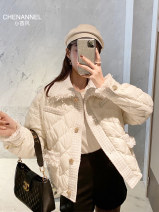 Down Jackets Spring 2021 Little fragrance Off white S M L White duck down 90% routine Long sleeves thickening Single breasted Sweet Straight cylinder QW0493 150g (including) - 200g (excluding) 25-29 years old 96% and above polyester fiber Polyester 99% polyamide 1% Pure e-commerce (online only)