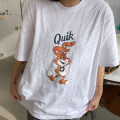 T-shirt Avocado Green Pink White Yellow M L XL 2XL 3XL 4XL 5XL 6XL Spring 2021 Short sleeve Crew neck easy Regular routine commute cotton 96% and above 18-24 years old Korean version originality Cartoon animation Mosanka MSK-172 printing Cotton 100% Pure e-commerce (online only)