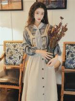 Fashion suit Spring 2021 S,M,L Shirt + strap skirt [suit], single shirt, single strap skirt