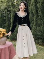 Dress Autumn 2021 Black top + skirt S,M,L
