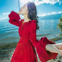 Dress Autumn 2021 Navy, scarlet S,M,L
