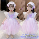 Dress Picture color female Other / other 120cm,100cm,130cm,110cm,90cm Other 100% summer princess Skirt / vest other Cotton blended fabric Splicing style 18 months, 2 years old, 3 years old, 4 years old, 5 years old, 6 years old