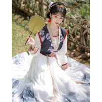 Hanfu 91% (inclusive) - 95% (inclusive) Summer 2021 [scholarly ink]_ Ink color full set (free freight insurance) new products on the new! S M L XL polyester fiber