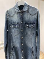 Dress Autumn 2020 wathet S,M,L longuette Long sleeves square neck routine Type H