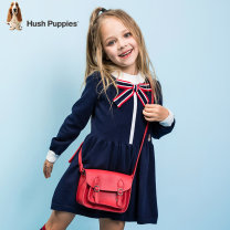 Dress Classic red female Hush Puppies / Hush Puppies 105cm 110cm 120cm 130cm 140cm 150cm 160cm 170cm spring and autumn leisure time Long sleeves other A-line skirt Class C