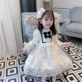 Dress Off white 1, off white 2 female Other / other 80cm, 90cm, 100cm, 110cm, 120cm, 130cm, 140cm, the style is a little loose, don't buy big, 90, 100, 110, 120, 130, 140 Other 100% spring and autumn princess Long sleeves Solid color Pure cotton (100% cotton content) A-line skirt Class B Huzhou City