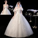 Wedding dress Spring 2021 white XXL, s, m, l, XL, custom wedding dress