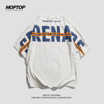 T-shirt Youth fashion White black routine M L XL 2XL MMOPTOP Short sleeve Crew neck easy Other leisure summer Cotton 100% youth routine tide Summer 2021 cotton Pure e-commerce (online only)