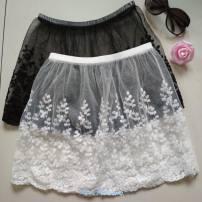 skirt Spring 2021 One size 80-130kg White fireworks waist skirt 34, black fireworks waist skirt 34, white Lanling waist skirt 34, black Lanling waist skirt 34 Short skirt Sweet A-line skirt