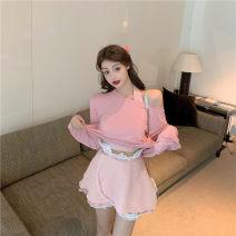 Fashion suit Summer 2020 Average size 7902 mint green ballet skirt, 7902 white Long Sleeve sunscreen T, 7902 sparkling pumpkin pants, 7903 baby blue vest, 7902 Rose Pink Ballet Skirt, 7903 light pink vest, 7902 rose pink sunscreen t